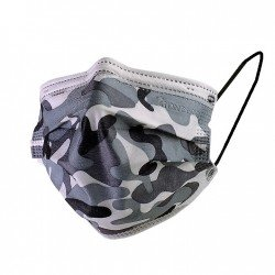Gris Camouflage - Masques Jetables - 1